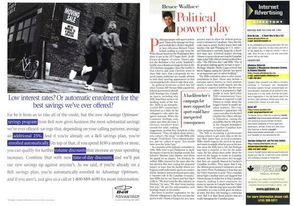 Article Preview: Political power play, March 1998 | Maclean's