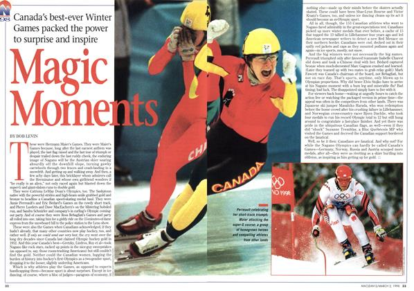Article Preview: Magic Moments, March 1998 | Maclean's