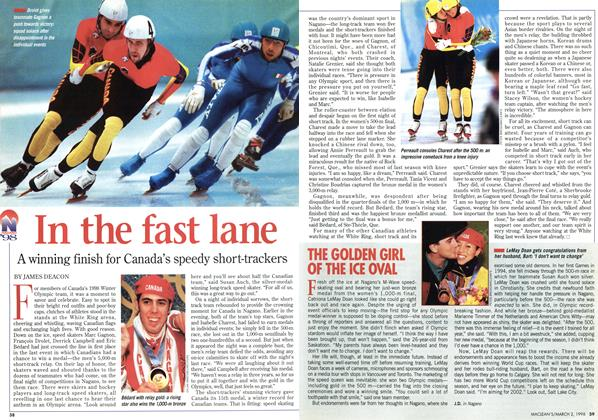 Article Preview: In the fast lane, March 1998 | Maclean's