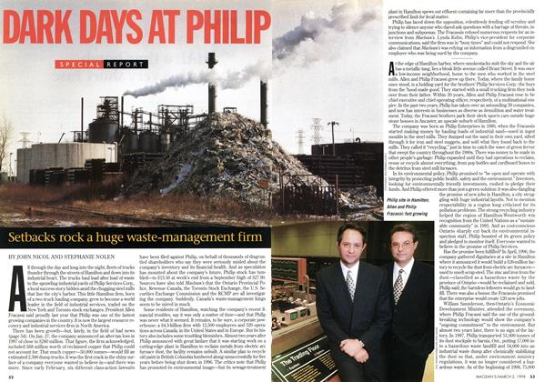 Article Preview: DARK DAYS AT PHILIP, March 1998 | Maclean's