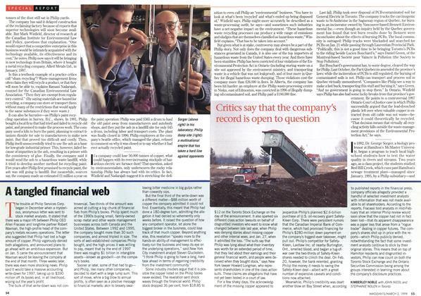 Article Preview: A tangled financial web, March 1998   Maclean's