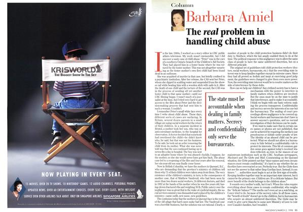Article Preview: The real problem in handling child abuse, March 1998 | Maclean's