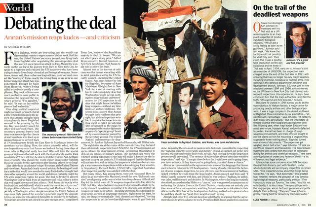 Article Preview: On the trail of the deadliest weapons, March 1998 | Maclean's