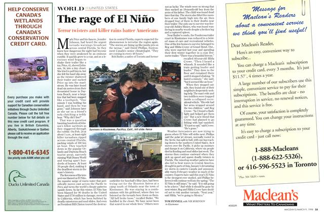 Article Preview: The rage of El Niño, March 1998 | Maclean's