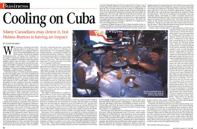 Article Preview: Cooling on Cuba, March 1998 | Maclean's