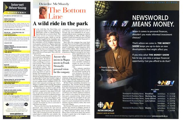 Article Preview: A wild ride in the park, March 1998 | Maclean's