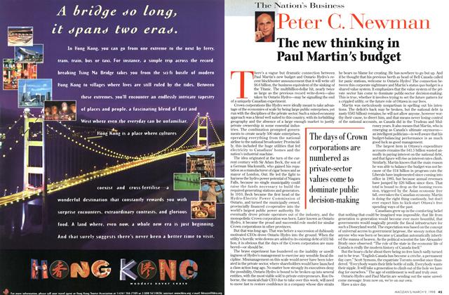 Article Preview: The new thinking in Paul Martin's budget, March 1998 | Maclean's
