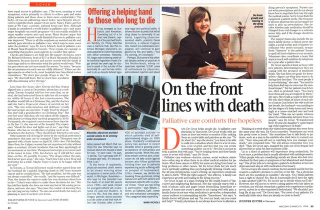 Article Preview: On the front lines with death, March 1998 | Maclean's
