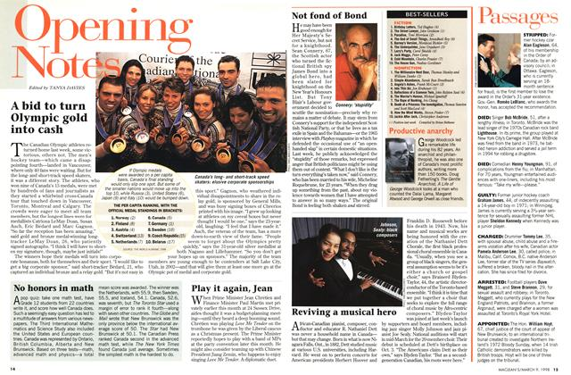 Article Preview: Opening Notes, March 1998   Maclean's