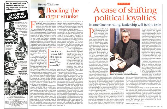 Article Preview: A case of shifting political loyalties, March 1998 | Maclean's