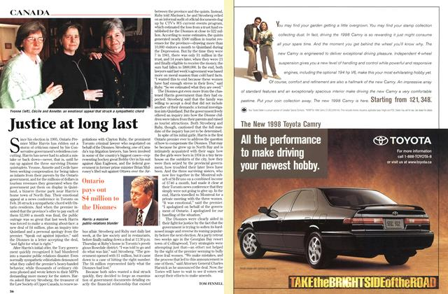Article Preview: Justice at long last, March 1998 | Maclean's