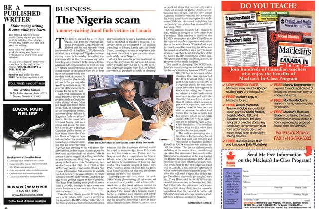 Article Preview: The Nigeria scam, March 1998 | Maclean's
