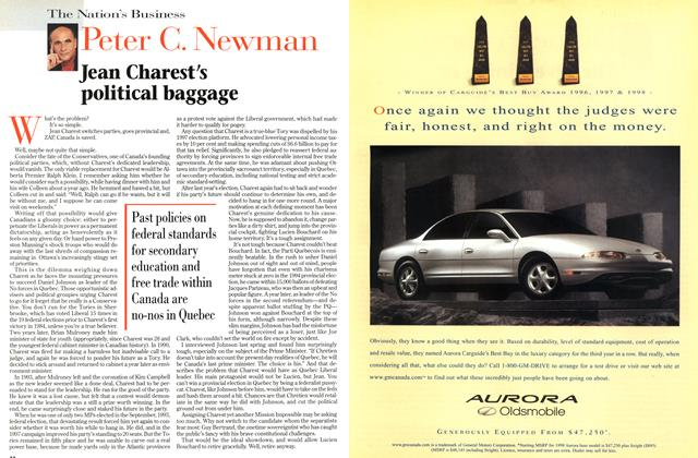 Article Preview: Jean Charest's political baggage, March 1998 | Maclean's