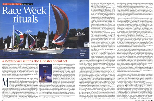 Article Preview: Race Week rituals, March 1998 | Maclean's