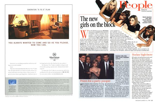 Article Preview: The new girls on the block, March 1998 | Maclean's