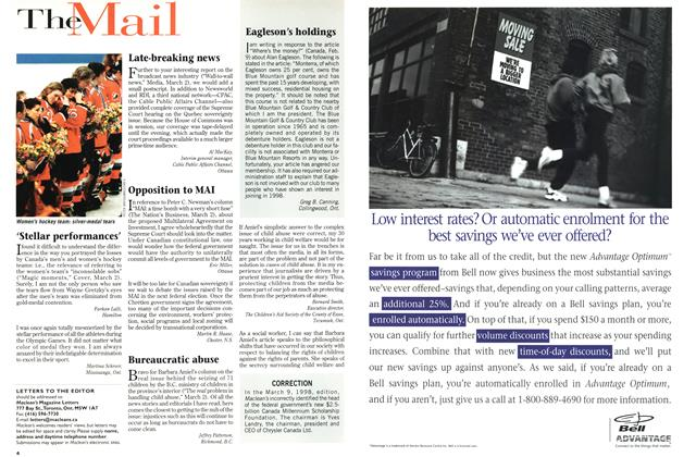 Article Preview: The Mail, March 1998 | Maclean's