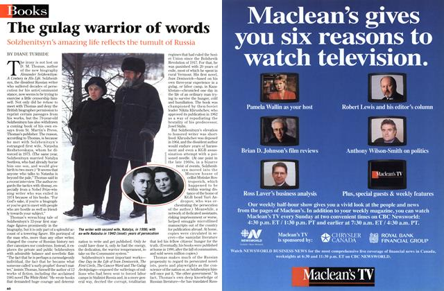 Article Preview: The gulag warrior of words, March 1998 | Maclean's