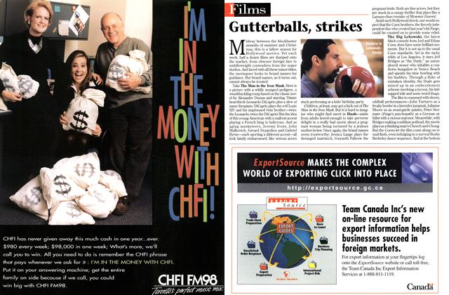 Article Preview: Gutterballs, strikes, March 1998 | Maclean's