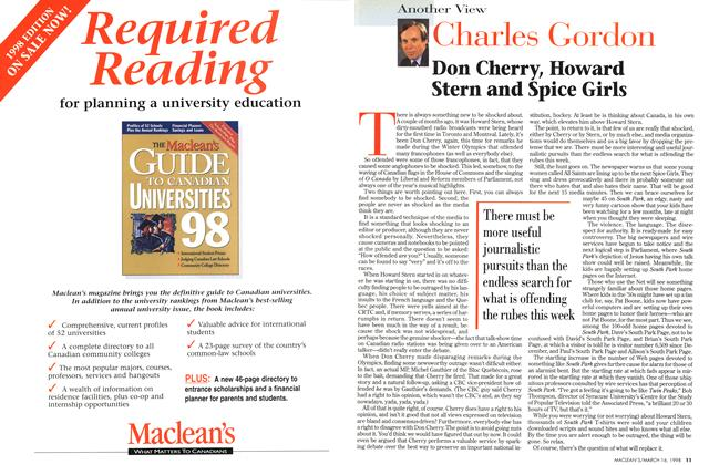 Article Preview: Don Cherry, Howard Stern and Spice Girls, March 1998 | Maclean's