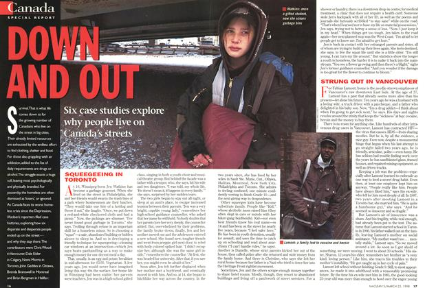 Article Preview: DOWN AND OUT, March 1998 | Maclean's