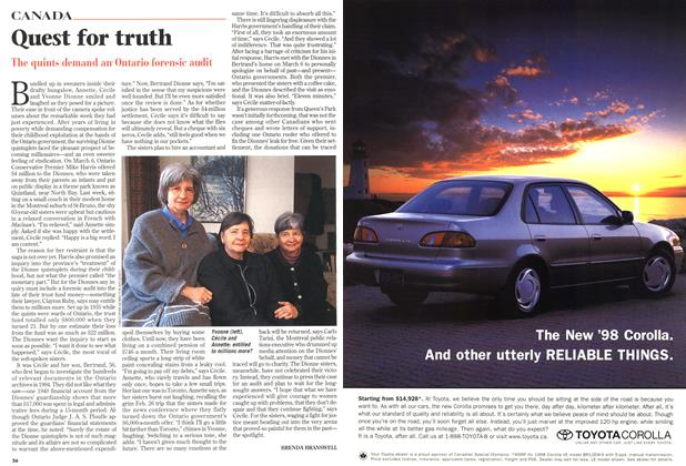 Article Preview: Quest for truth, March 1998 | Maclean's