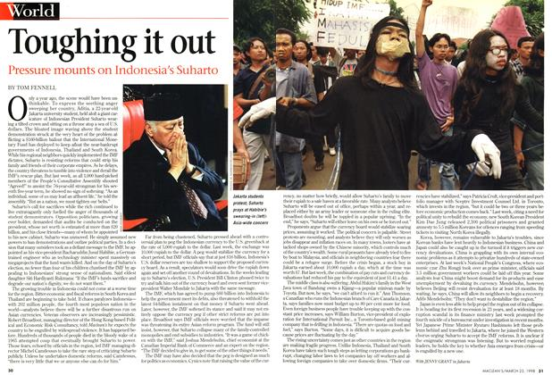 Article Preview: Toughing it out, March 1998 | Maclean's