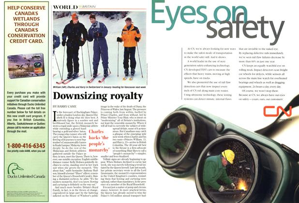 Article Preview: Downsizing royalty, March 1998 | Maclean's