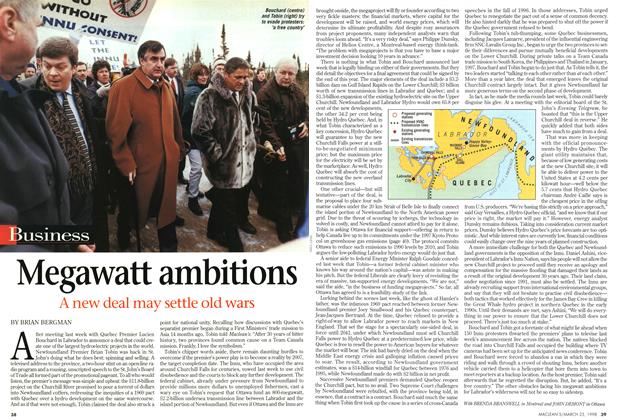 Article Preview: Megawatt ambitions, March 1998 | Maclean's