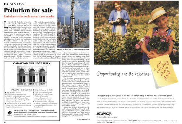 Article Preview: Pollution for sale, March 1998 | Maclean's