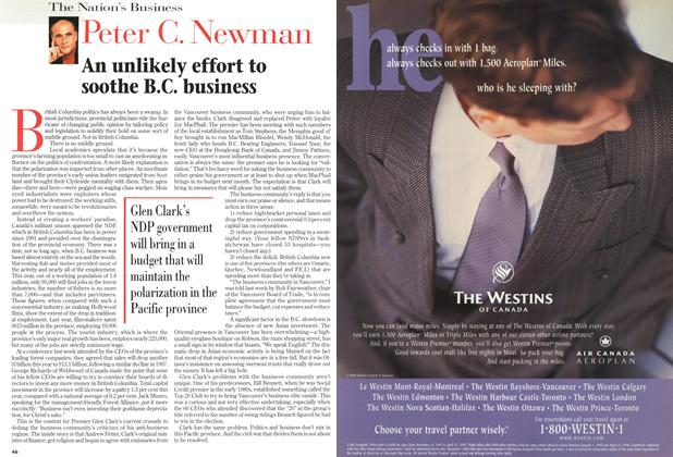 Article Preview: An unlikely effort to soothe B.C. business, March 1998 | Maclean's