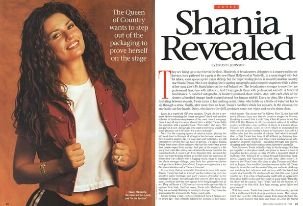 Article Preview: Shania Revealed, March 1998 | Maclean's