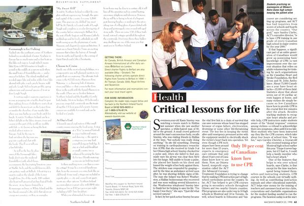 Article Preview: Critical lessons for life, March 1998 | Maclean's