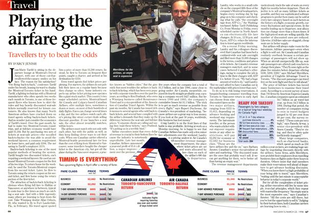 Article Preview: Playing the airfare game, March 1998 | Maclean's