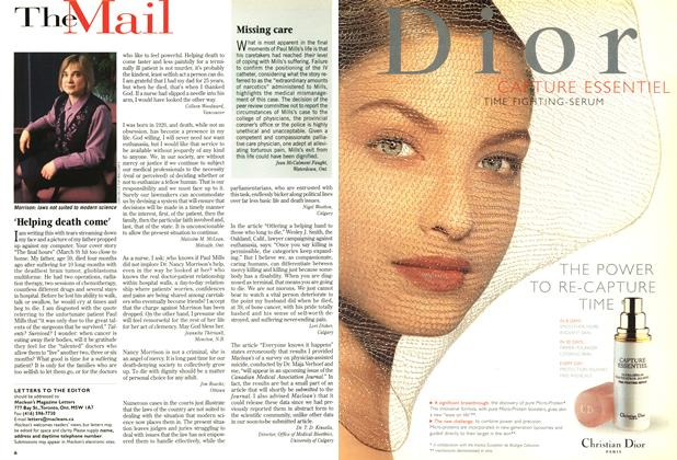 Article Preview: 'Helping death come', March 1998 | Maclean's