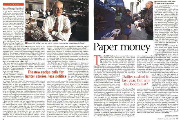 Article Preview: Paper money, March 1998 | Maclean's
