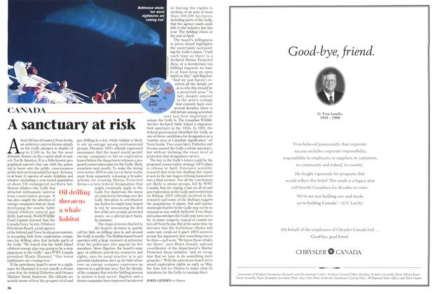 Article Preview: A sanctuary at risk, March 1998 | Maclean's