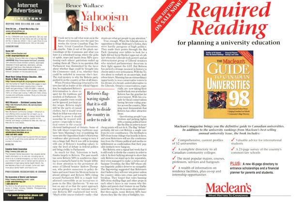 Article Preview: Yahooism is back, March 1998 | Maclean's
