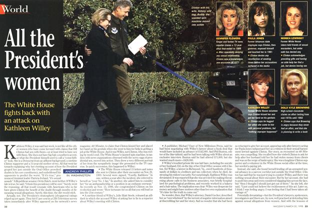 Article Preview: All the President's women, March 1998 | Maclean's