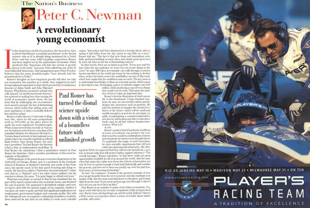 Article Preview: A revolutionary young economist, March 1998 | Maclean's