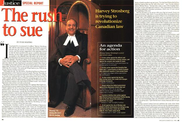 Article Preview: The rush to sue, March 1998 | Maclean's