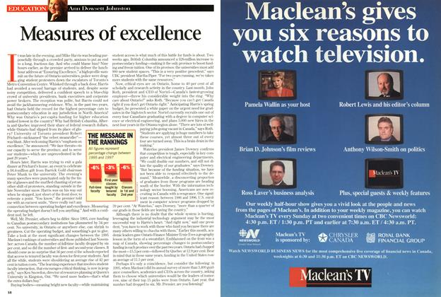 Article Preview: Measures of excellence, March 1998 | Maclean's