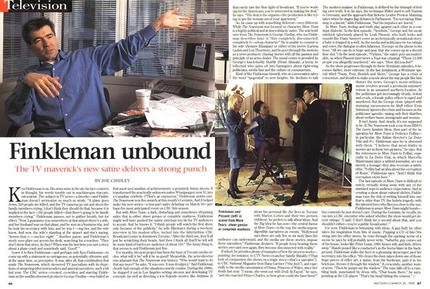 Article Preview: Finkleman unbound, March 1998 | Maclean's