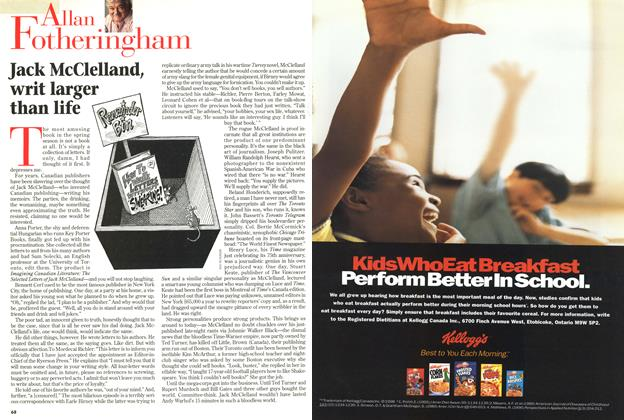 Article Preview: Jack McClelland, writ larger than life, March 1998 | Maclean's
