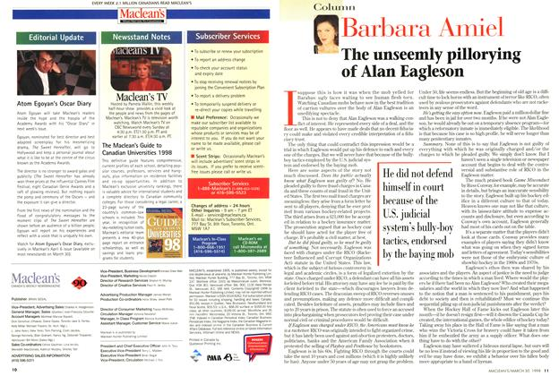 Article Preview: The unseemly pillorying of Alan Eagleson, March 1998 | Maclean's
