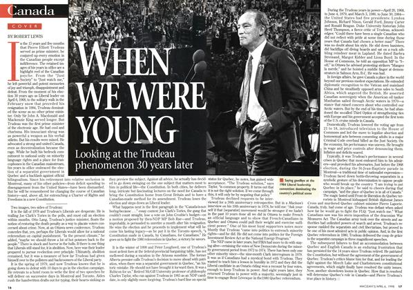 Article Preview: WHEN WE WERE YOUNG, April 1998 | Maclean's