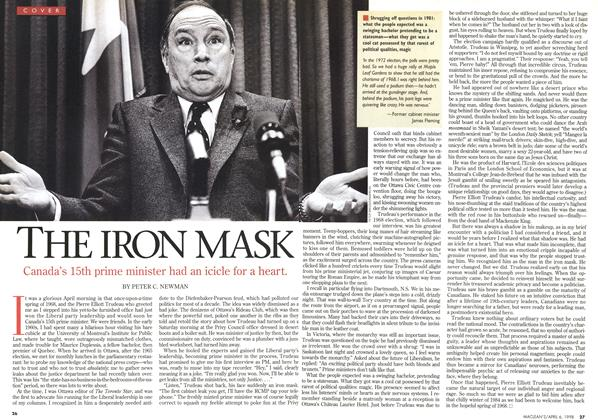 Article Preview: THE IRON MASK, April 1998 | Maclean's