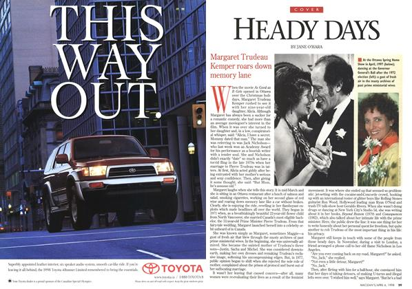Article Preview: HEADY DAYS, April 1998 | Maclean's