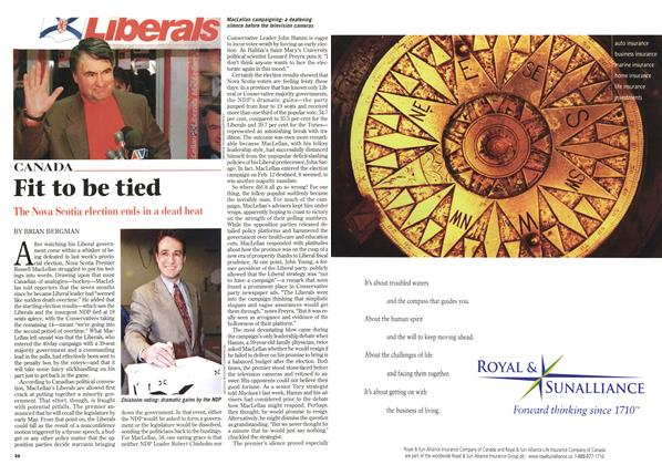Article Preview: Fit to be tied, April 1998 | Maclean's