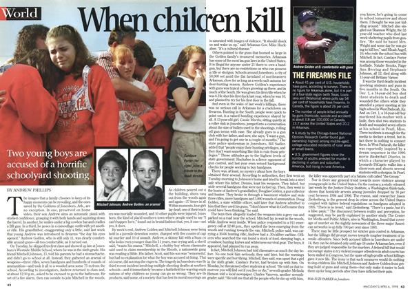 Article Preview: When children kill, April 1998 | Maclean's