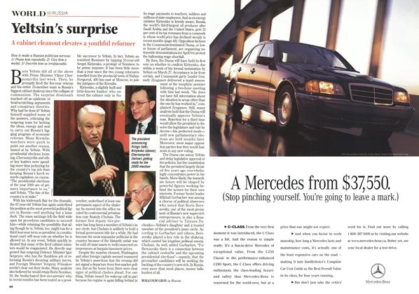 Article Preview: Yeltsin's surprise, April 1998 | Maclean's